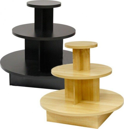Black Round 3 Tier Display Table, 3 Tier Round Display Table