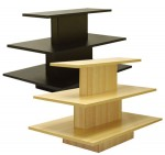 Black 3 Tier Rectangular Display Table